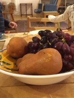 A French Feast for Junior Camp:  baguette, chocolat, brie et fruits